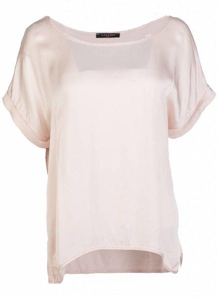Gemma Ricceri Shirt silk touch roze
