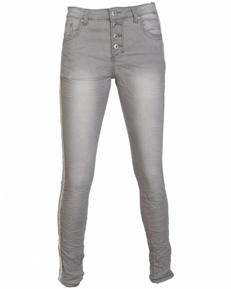 place du Jour Jogging jeans Pearl grijs