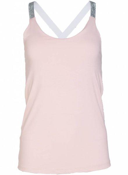 Gemma Ricceri Top glitterband roze