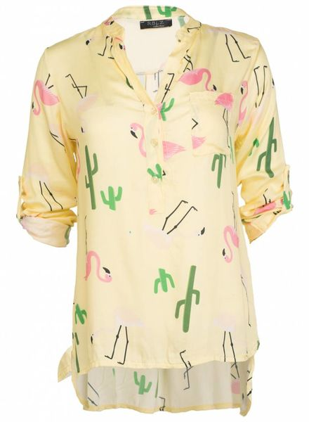 Rebelz Collection Blouse Flamingo geel