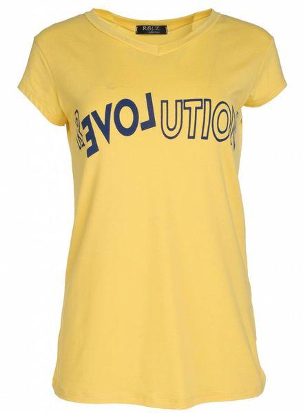 Rebelz Collection Shirt Revolution geel