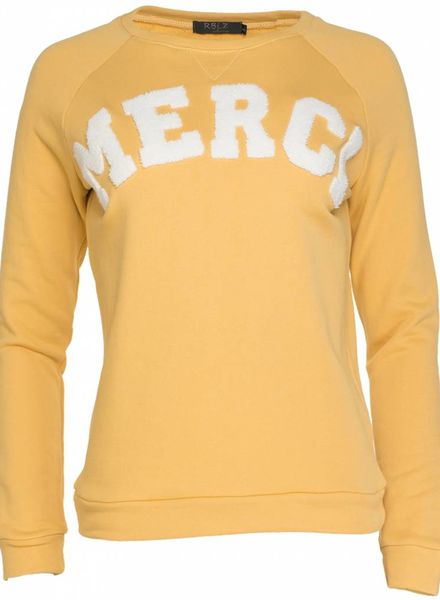 Rebelz Collection Sweater Merci geel