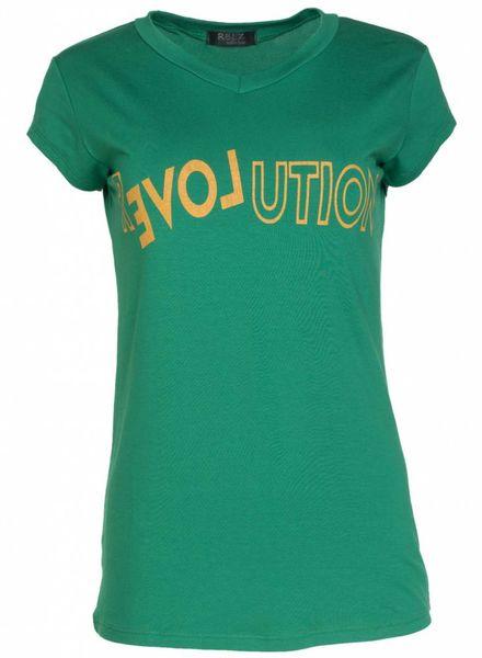 Rebelz Collection Shirt Revolution Gucci groen