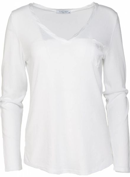 Gemma Ricceri Shirt basic Nienke wit
