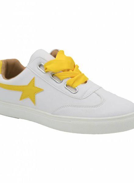 Sneaker ster geel