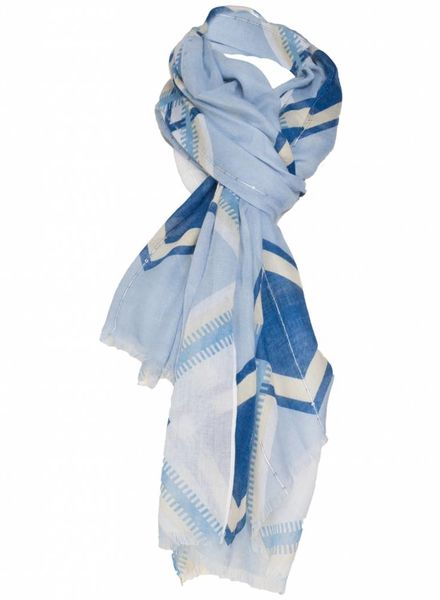 Sjaal ruit kobalt/geel
