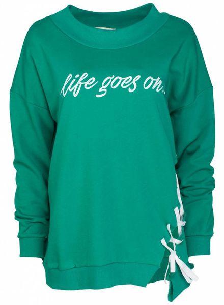 Gemma Ricceri Sweater life goes on gucci groen