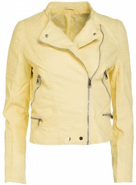 Gemma Ricceri Biker jacket geel