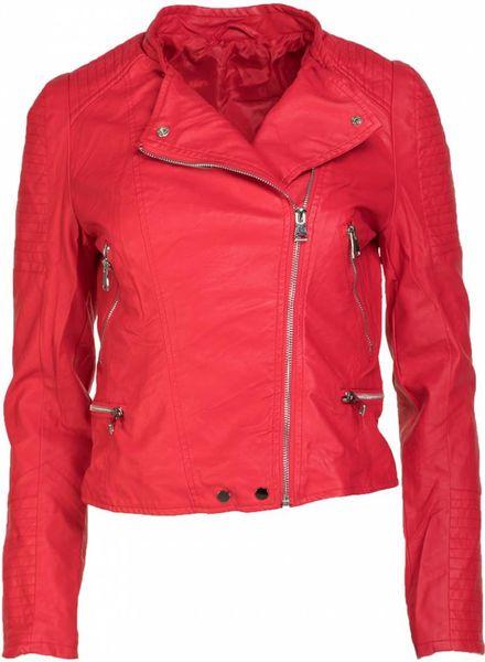 Gemma Ricceri Biker jacket rood