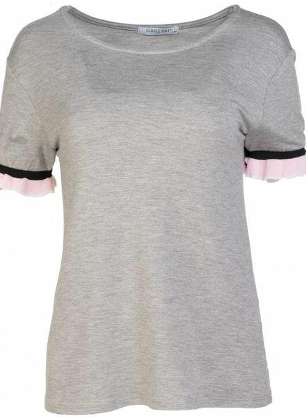 Gemma Ricceri Shirt Mandy grijs/roze