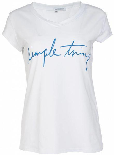 Gemma Ricceri Shirt simple things blauw