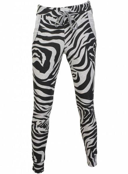 Rebelz Collection Joggingbroek zebra grijs