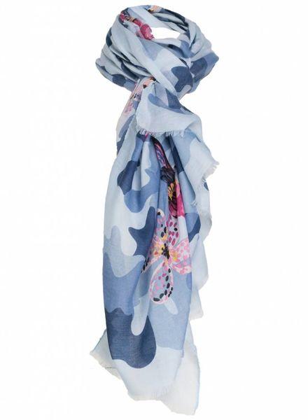 Sjaal Vera legerprint blauw