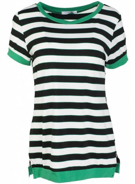 Gemma Ricceri Shirt streep groen/zwart