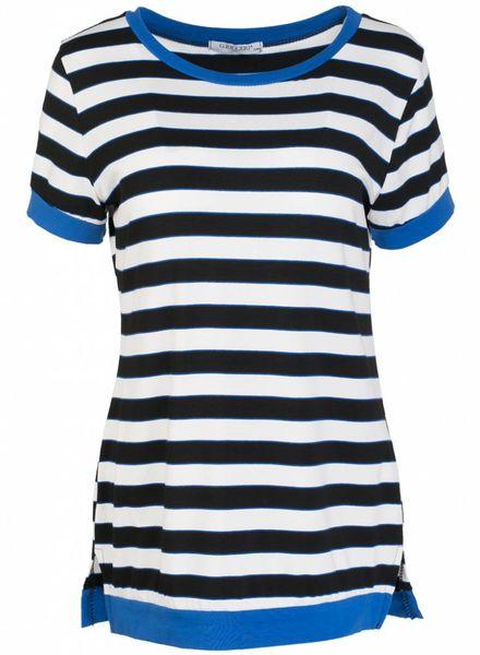 Gemma Ricceri Shirt streep kobalt/ zwart