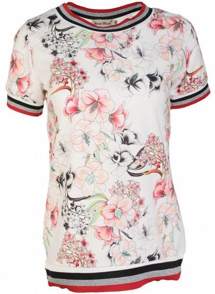 Shirt flower wit
