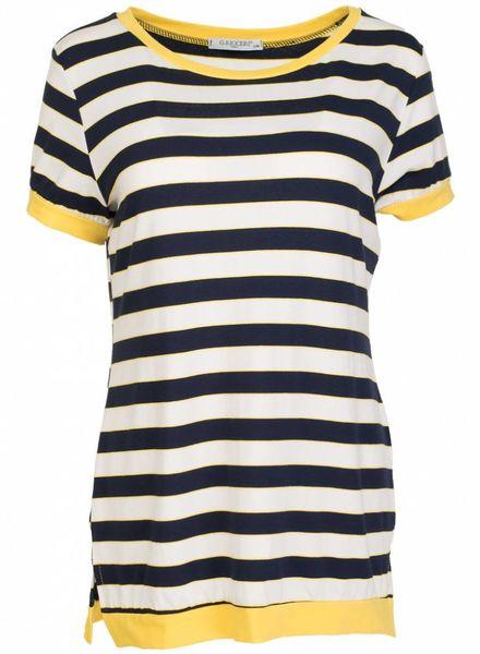 Gemma Ricceri Shirt streep geel/blauw