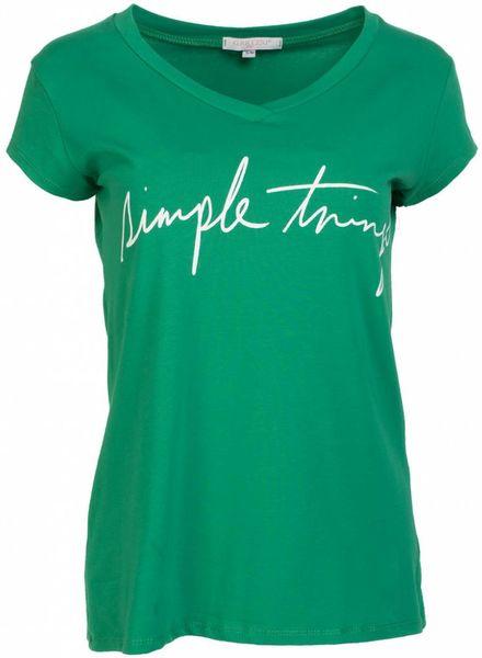 Gemma Ricceri Shirt simple things groen/wit