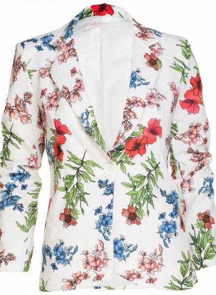 Gemma Ricceri Blazer spring flower wit
