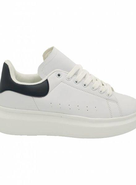 Sneaker Carola wit/blauw