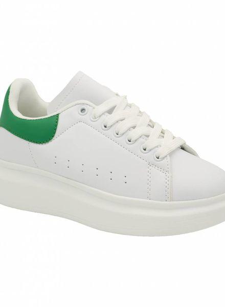 Sneaker Carola wit/groen