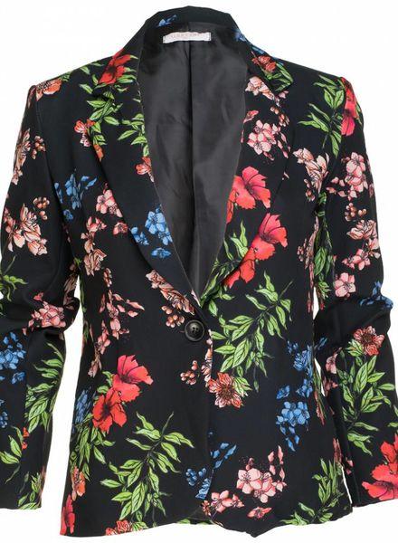 Gemma Ricceri Blazer spring flower zwart
