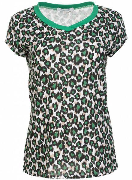 Gemma Ricceri Shirt Diana groen zwart