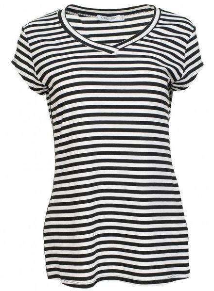 Gemma Ricceri Shirt streep limited zwart/wit