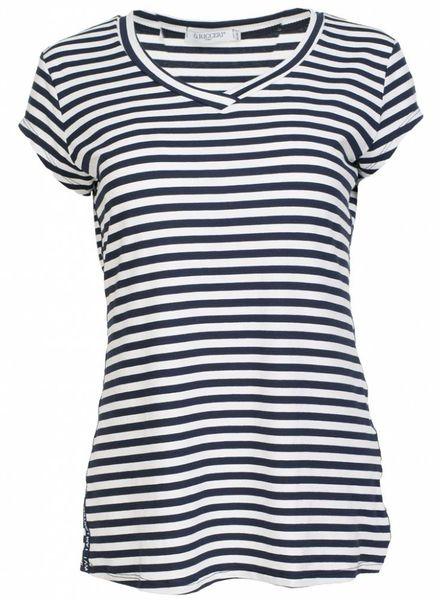 Gemma Ricceri Shirt streep limited blauw/wit
