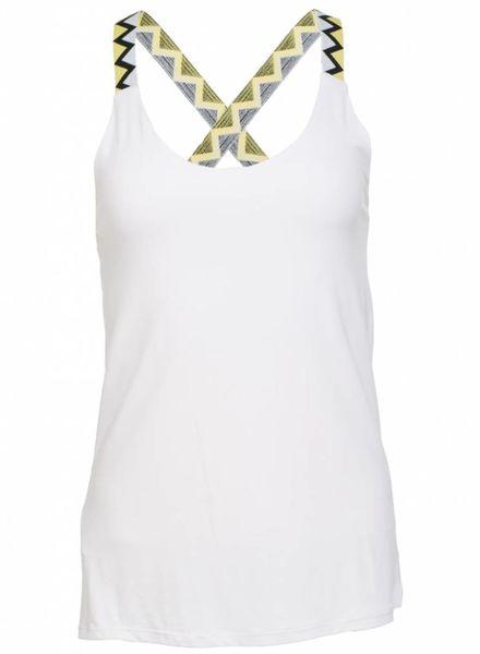 Gemma Ricceri Top kruisband Lilly geel/zwart