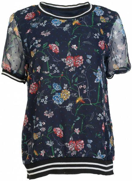 Vera Jo Shirt Katy voile donkerblauw