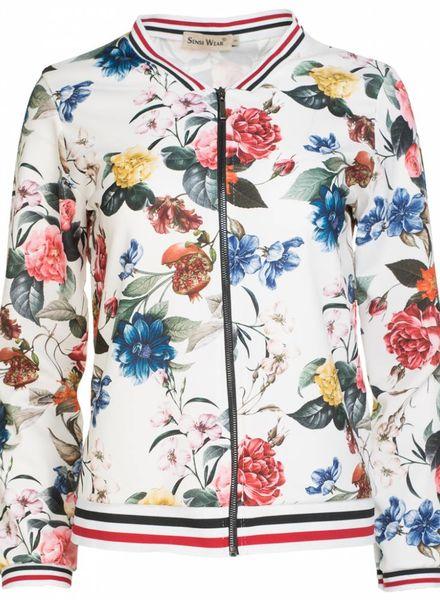 Bomber Jacket bloem wit