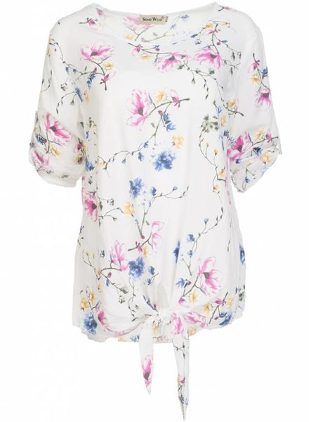 Blouse Mary bloem wit