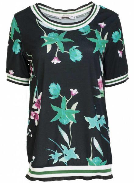 Gemma Ricceri Shirt Fannie zwart/groen