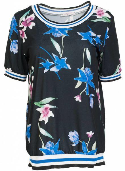 Gemma Ricceri Shirt Fannie zwart/kobalt