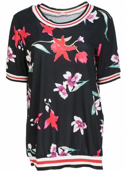 Gemma Ricceri Shirt Fannie zwart/rood