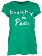 Rebelz Collection Shirt Roadtrip groen/wit