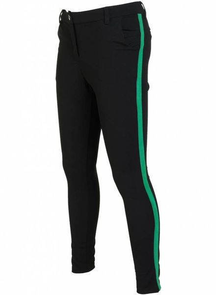 Rebelz Collection Pantalon Ella zwart/gucci groen