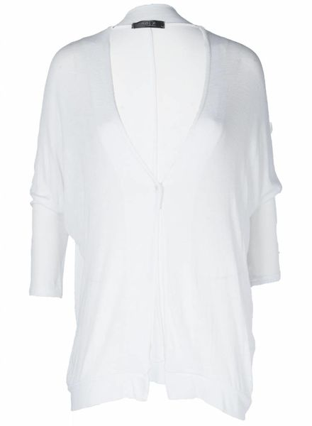 Rebelz Collection Vest Basic Knoop Wit One size
