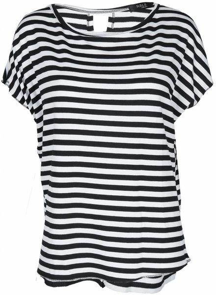 Rebelz Collection Shirt Hester streep zwart/wit