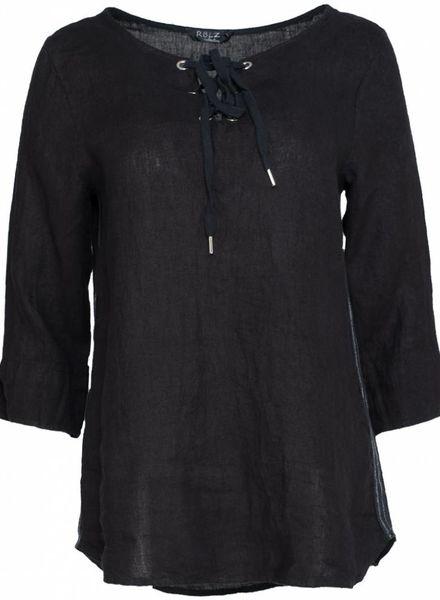 Rebelz Collection Blouse linnen Emma zwart