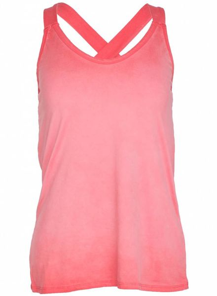 Rebelz Collection Top kruisband rood