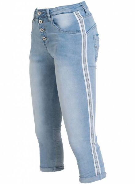 place du Jour jogging jeans capri rowan licht blauw