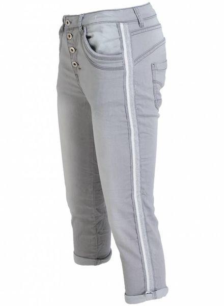 place du Jour Jogging jeans capri rowan grijs