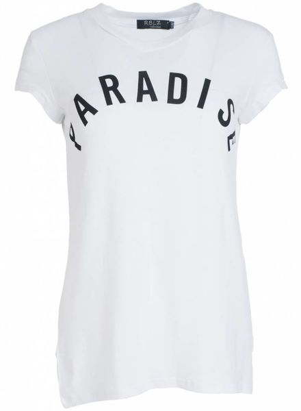 Rebelz Collection Shirt Paradise wit/zwart