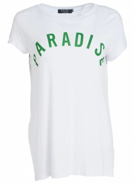 Rebelz Collection Shirt paradise wit/groen