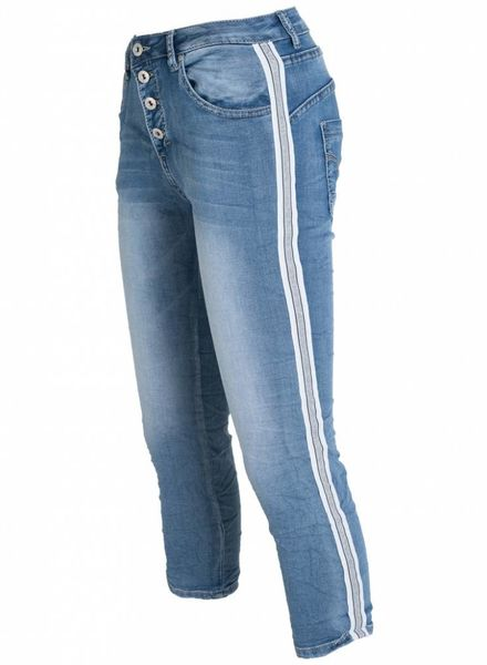 place du Jour jogging jeans capri rowan dark