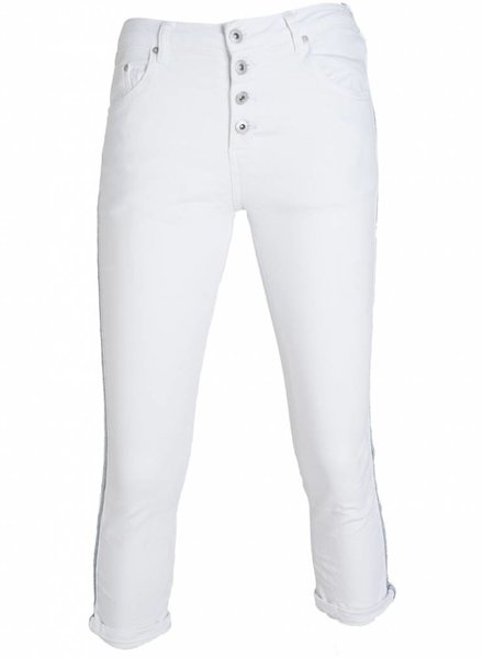 place du Jour Jogging jeans capri bea wit