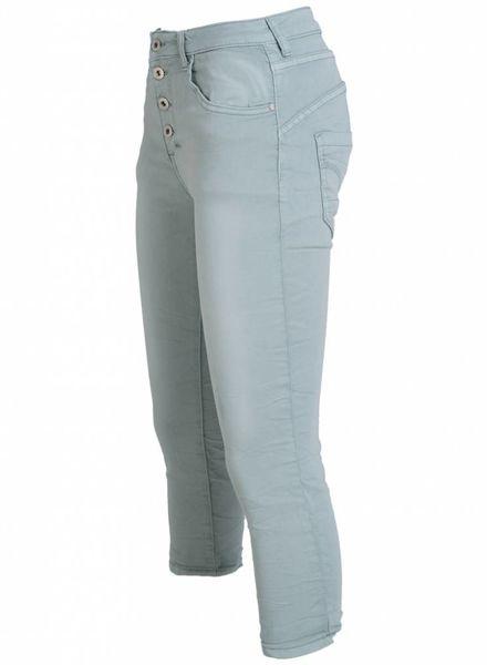 place du Jour Jogging jeans capri mintgroen