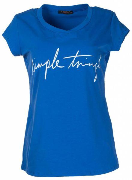 Gemma Ricceri Shirt simple things kobalt